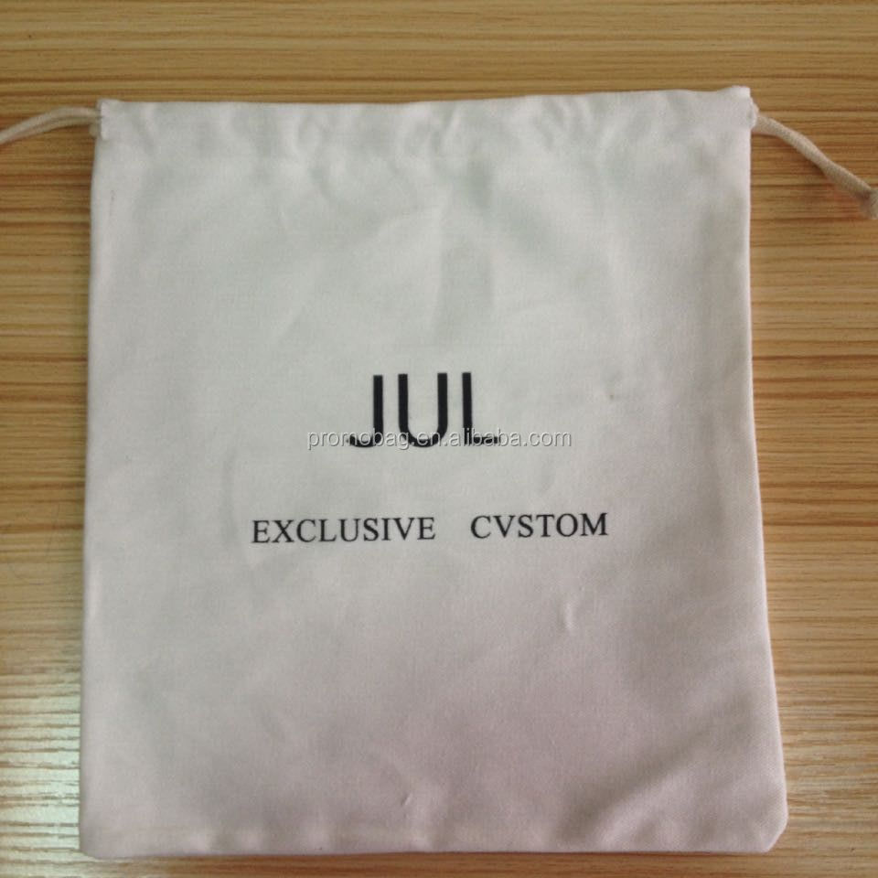 Muslin Cotton Drawstring Bag With Customized Logo