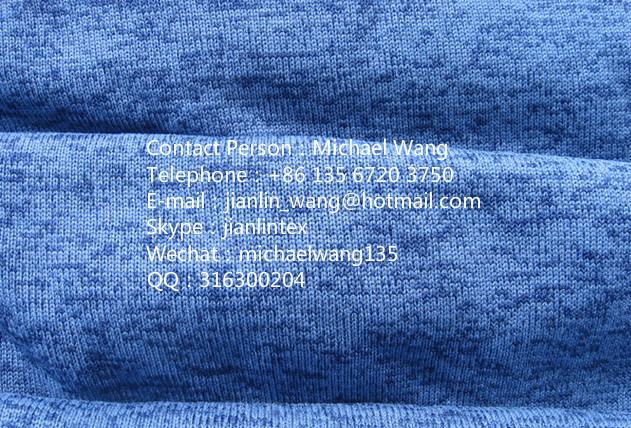 Polyester Coarse Needle Anti-pill Fleece For Garment