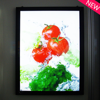 single side led Clear acrylic magntic frames aluminum frame a1 magnetic open type light box