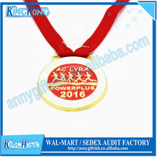 Round shape gold medal with printing logo,zinc alloy medal for game