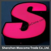 acrylic led digital advertising light box letter sign