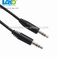 3 pin male to male jack aux audio video cable with 3.5mm