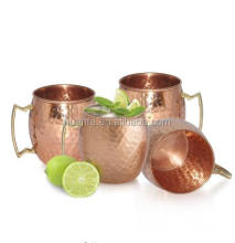 Highest Quality 100% Solid Copper Moscow Mule Mugs (No Nickel Interior) 16oz Hammered mug in stock