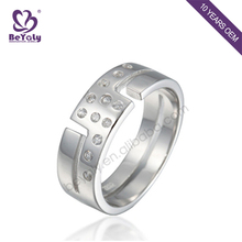 Customized wholesale gemstone silver gear ring for men