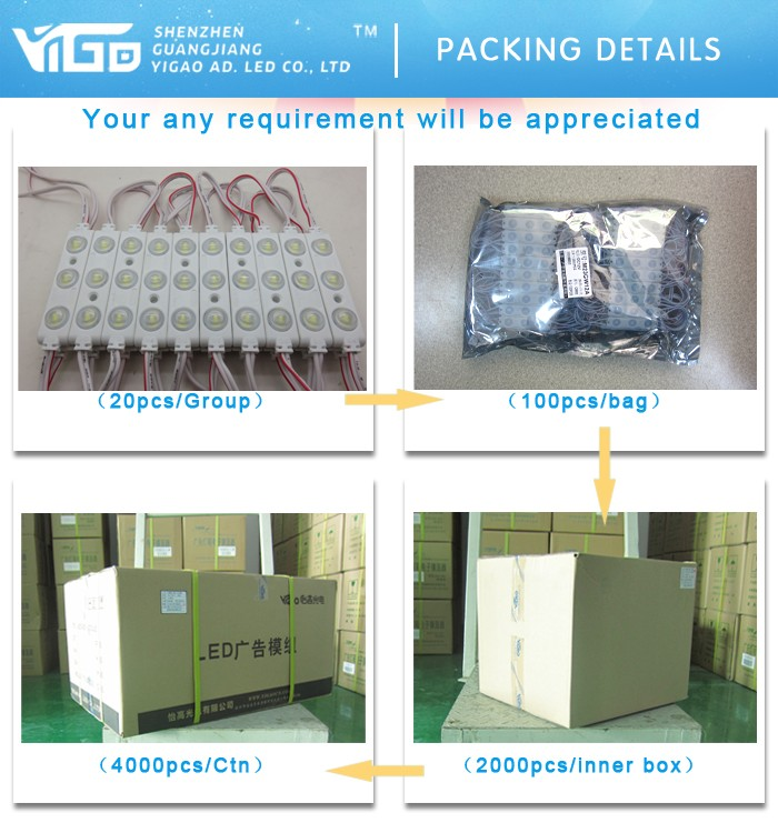 SMD5730 3leds module for sign with UL