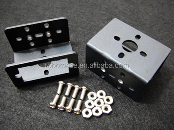 Mini Aluminum Multi-Purpose Micro Servo Bracket Two Pack for Robot (black)