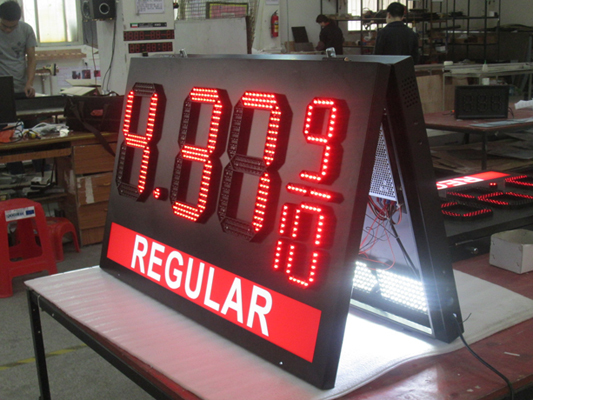 Regular Led Gas Price Sign \ Regular Gas Station Screen \Led Outdoor Gas Price Sign Board