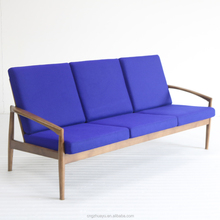 latest design wooden 3 seat sofa