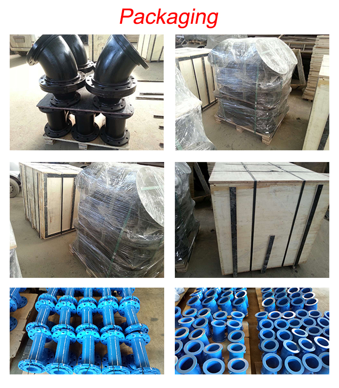 Epoxy coated cast iron dismantling joint for water supply pipe line