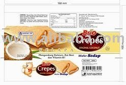 Wafer Brio Crepes snack