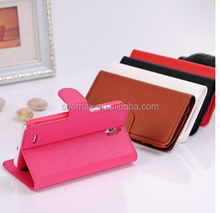 Scratchproof Flip PU Leather Fold Stand Phone Case for huawei ascend g610