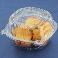 Popular clear plastic round cake box