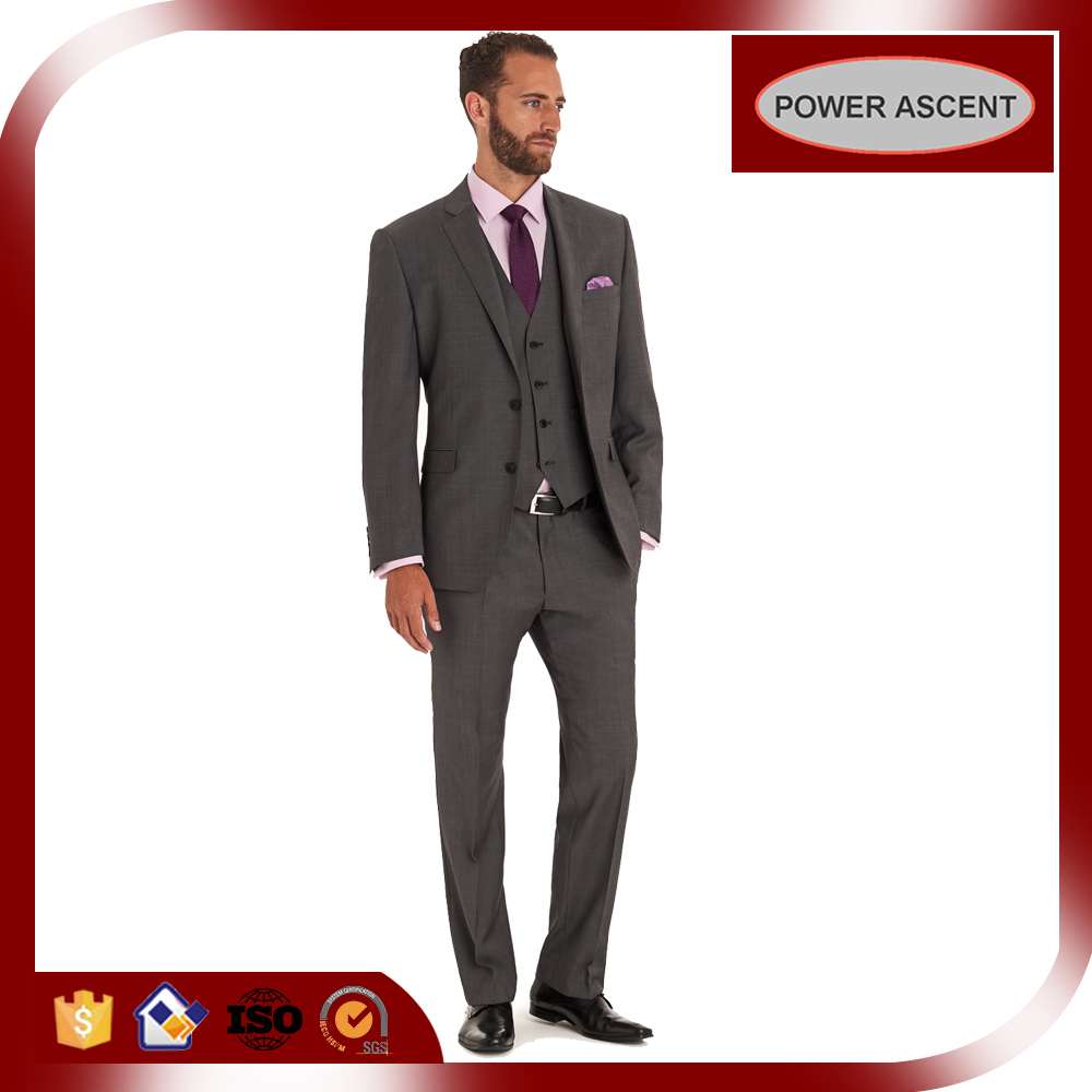 2015 mens cheap grey business suit jackets