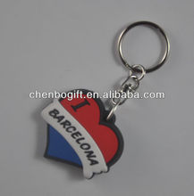 Best seller - heart shaped pvc keychains, make your design soft pvc keyrings