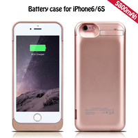 High quality 4200mah backup flip rechargeable power bank battery charge covers case for iphone6+ iphone 6