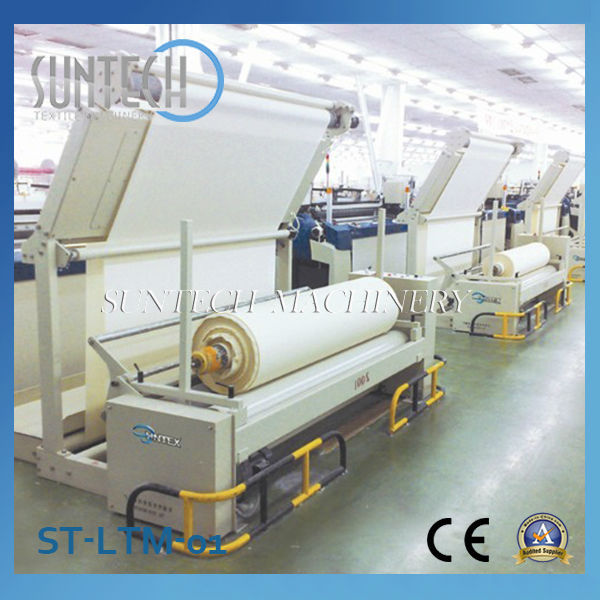 SUNTECH Cloth Rolling Machine for Weaving Machines (Inspection Table Optional)