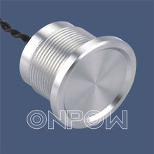 ONPOW IP68 sealed metal piezo touch switch(16MM,19MM,22MM,IP68,with 30cm wire)