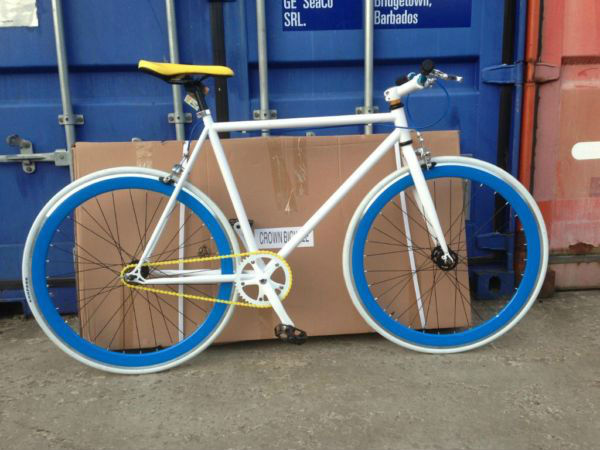 Fixed gear bicycle. Fixie bike. Single speed bicycle