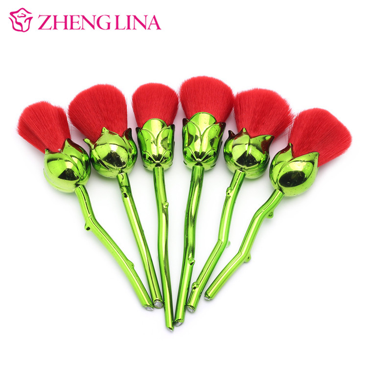 2017 Private Label Makeup Brush Rose Flower <strong>Beauty</strong> Makeup Brush Makeup Kit