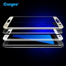 Hot sale 3d curved full cover super shield tempered glass screen protector for samsung galaxy s7 edge touch tempered glass