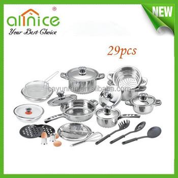 29pcs stainless steel kitchen queen cookware set for Naaptol kitchen queen set
