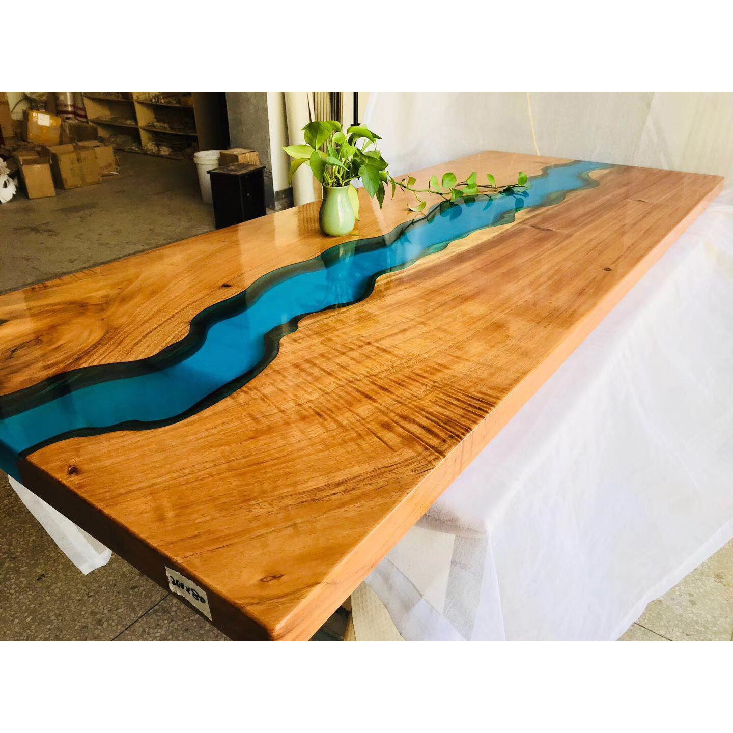 Interior Decoration Beautiful Art Design 6 Seater River Table Solid Wood With Clear Epoxy Resin Table Buy Epoxy Resin Table Epoxy Table Top Epoxy Dining Table Epoxy Resin Wood Table Clear