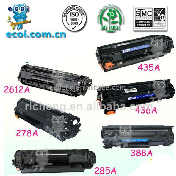 compatible toner cartridge 12a 15a 35a 36a 53a 78a 85a 88a high quality toner import
