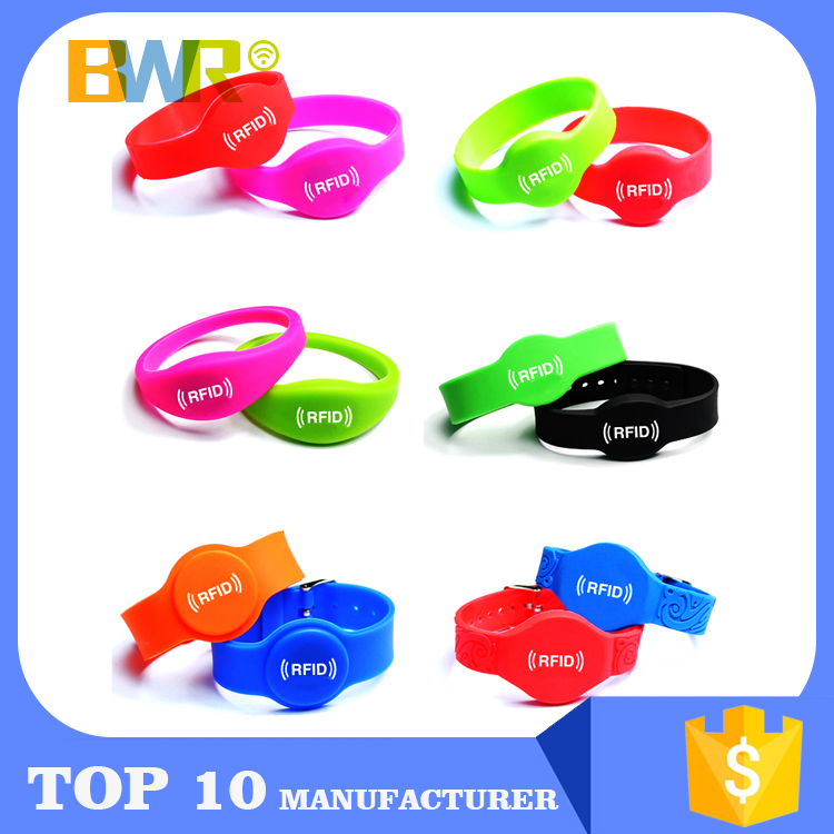 Custom Writable Wrist Band Rfid Paper Wristband, Active Rfid Woven Wristband Id Bracelet, Name Tag Nfc Silicone Rfid Wristbands