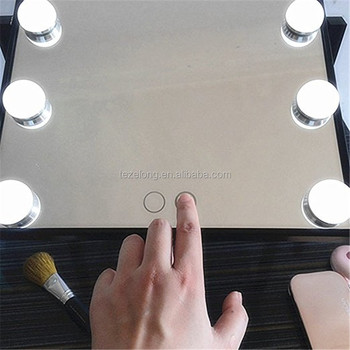 Decorative Rustic Smart mirror Makeup Home Decoration Illuminated with led bulbs for make up