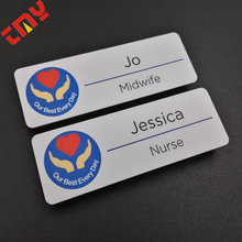 Wholesale Plastic Magnetic Reusable Name Badge With Your Own