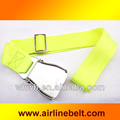 Neon yellow airplane belt