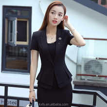 Uniform design office lady coat pant skirt women suit office