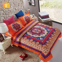 100% polyster duvet covers sets and Bohemian printed bedsheet for home textile