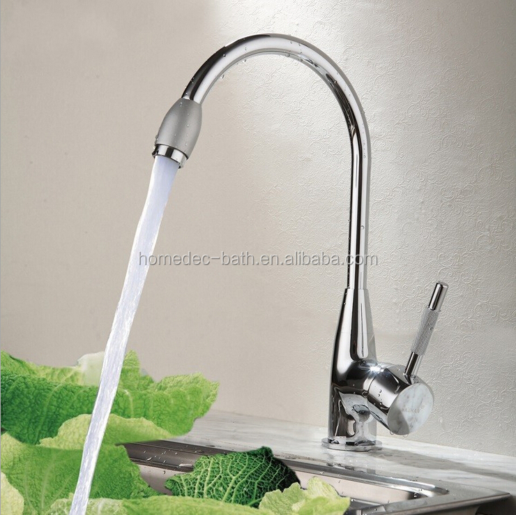 European Style Brass chrome finish Deck Mounted Kitchen Sink Faucet Water Tap types for kitchen