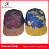 Solar panel hat leather brim 5 panel hat