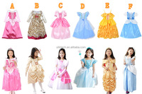2015 Fancy dress costumes for girls wear princess child dress frock designs wholesale sweet cosplay costume for kids (ulik)