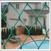diamond shape pvc coated chain link fence (direct factory)