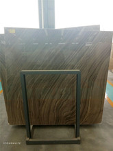 China Supplier Wood Look Natural Brown Cheap Cost of Marble Slab