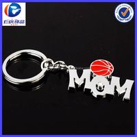 custom handmade promotional metal letter keychain For Basketball