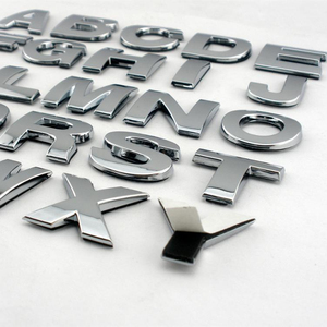 Car chrome letter Emblem logo Badge Decals for Quattro Volvo Suzuki Mazda Skoda Ford Audi Cadillac Lexus