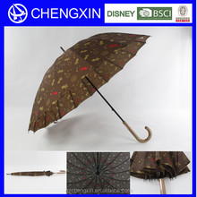 Outdoor wooden straight umbrella