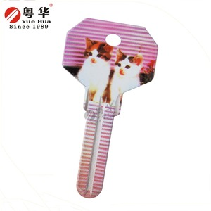 Lovely cat key blank key chain with custom design and logo for the house door lock