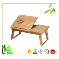 Convinient bamboo folding computer table,folding table