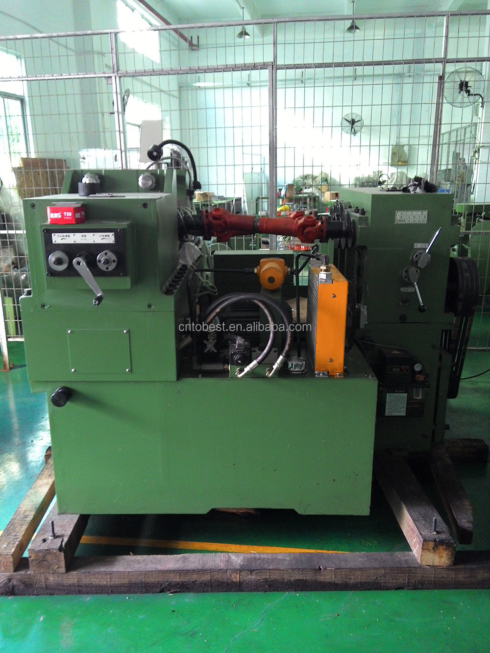 motor spindle thread rolling machine railway bolts making machine