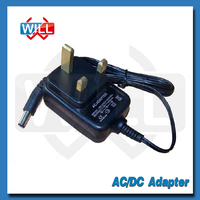 BS UK standard wall mount 7.5v 8.5v power ac adapter