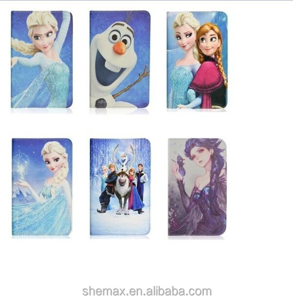 Frozen Cartoon Princess Elsa Leather Case Cover For iPad Air 2