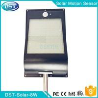 solar panel 5 watt solar motion sensor light garden shed outdoor lighting 18650 battery
