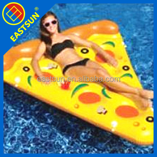 New Inflatable Pizza slice shape Float floor swimming mat