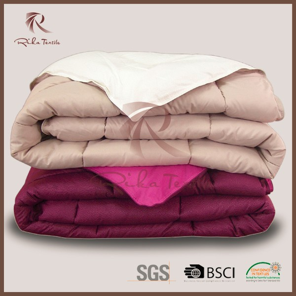 new product double side microfiber bed quilt with microfiber fabric in color
