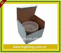 paper cake cup,supermarket packing baking cups in small white box with label.